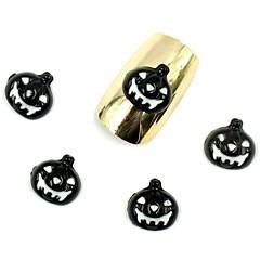 50pcs 3D Halloween Nageldesign schwarz Kürbis für Acrylnagelspitzen Nagelkunstdekorationen