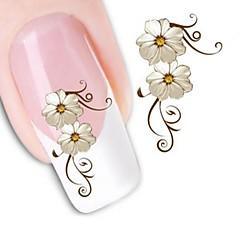 1 Neglekunst klistremerke Vannoverføringsklistre Blomst Sminke Kosmetikk Neglekunst Design