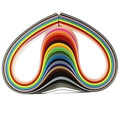 120db 3mmx53cm Quilling papír (24 szín x5 db / szín) diy kézműves művészet dekoráció