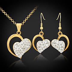 u7®18Kゴールドは、オーストリアのSWAのラインストーンシャンバラの心の宝石は女性のためのジュエリーのギフトをセットメッキ