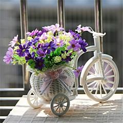"""8 """"h modernen mehrfarbigen Gänseblümchen in weißen Korb Fahrrad"""