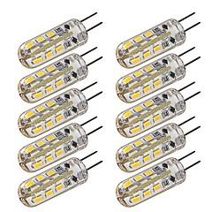 1.5W G4 LED Mais-Birnen T 24 SMD 3014 100-120 lm Warmes Weiß / Kühles Weiß Dimmbar DC 12 V 10 Stück