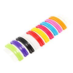 grampos de cabelo do arco-íris multicolor