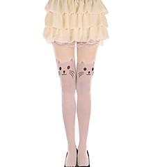 Ponožky a punčochy Sweet Lolita Lolita Princeznovské Bílá Lolita Příslušenství Punčocháče Zvířecí Pro Dámské Samet
