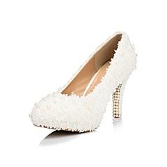 Women's Wedding Shoes Heels/Platform/Round Toe Heels Wedding White