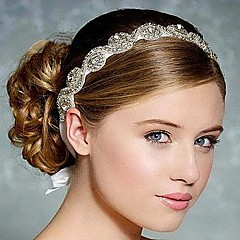 Women's Rhinestone / Silk Headpiece-Wedding Headbands