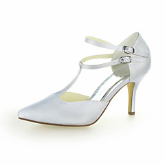 Women's Wedding Shoes Heels Heels Wedding Black/Blue/Yellow/Pink/Purple/Red/Ivory/White/Silver/Champagne