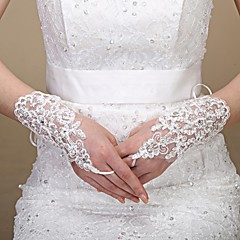 Elbow Length Glove Tulle Bridal Gloves Spring / Summer / Fall / Winter