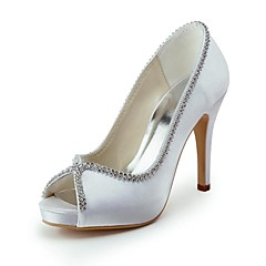 Dame Bryllup sko Hæler/Åpen tå høye hæler Bryllup/Fest/aften Svart/Blå/Gul/Rosa/Lilla/Rød/Elfenbenshvit/Hvit