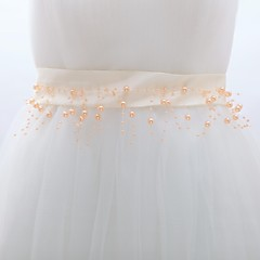 Miçangas Casamento / Festa/Noite Faixa Feminino Branco / Champagne 39 ¼polegadas(100cm)
