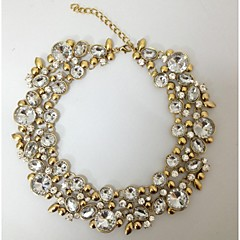 mote vintage syklus runde halskjeder krystall choker statement smykke
