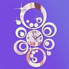 """20 """"h moderne stijl ronde cirkels 3d diy acryl spiegel wandklok"""