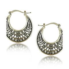 Vintage Jewelry Earrings Bohemian Tibetan Silver Earrings
