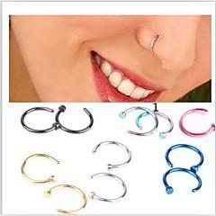 Damen Körperschmuck Nasenringe & -stecker Nasenpiercing Edelstahl Einzigartiges Design Modisch Schmuck Golden Hellblau 1 # 4 # Regenbogen
