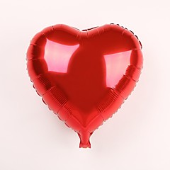 25 Pcs for 18 Inch Red Heart Metallic Balloon
