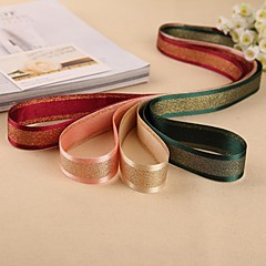 2MGorgeous Sandwhich Gold Stripe Grosgrain Ribbon