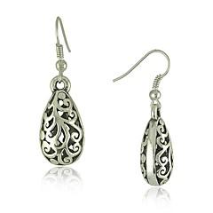 etnische vintage Tibetaans zilver houtsnijwerk oorbellen vintage sieraden oorbellen