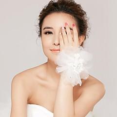 Korejští sladké bílé květy na zápěstí květ živůtky nevěsta svatební doplňky více barev