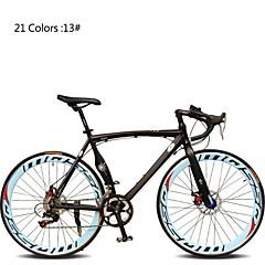 Road Bikes Pyöräily 7 Speed 26 tuumaa/700CC 60mm Unisex / Miesten / Nais- SHIMANO TX30 Tuplalevyjarru Tavallinen Monokokki Tavallinen