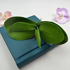 mesterséges zöld orchideák levelek 2 db / csomó szárat lakberendezési