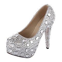 Women's Wedding Shoes Heels/Platform/Round Toe Heels Wedding Silver