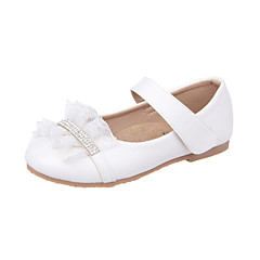 Girls' Shoes Dress Leatherette Flats Spring / Summer / Fall Comfort / Mary Jane / Round Toe Flat Heel Blue / Pink / Beige