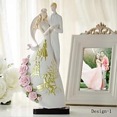 Tortenfiguren & Dekoration Klassisches Paar Harz Hochzeit / Brautparty Weiß Garten Thema Geschenkbox