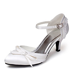 Women's Wedding Shoes Heels/D'Orsay & Two-Piece Heels Wedding Black/Blue/Pink/Purple/Red/Ivory/White/Silver/Gray/Champagne