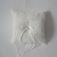 слоновой кости Square Ring подушка с лентой