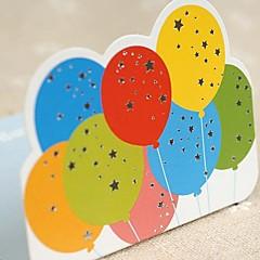 Dancing Balloon Mini Birthday Blessing Card(7.5*7.5cm)