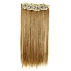 24 inch 120g hosszú szintetikus egyenes klip hajhosszabbítás 5 klip haj darab