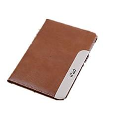 Äpple iPad Mini/iPad mini 2/iPad mini 3 - Solid Färg/Special Design - Smarta Omslag (Äkta läder , Röd/Svart/Blå/Brun/Ros)