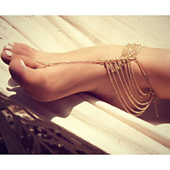 Alloy Multilayer Anklet Bracelet Body Chain