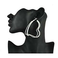 Women's Alloy Huggie Earrings With
