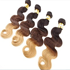 "3pcs A Lot Peruvian Ombre Hair 12""~34"" #1b/4/27 Ombre Hair"
