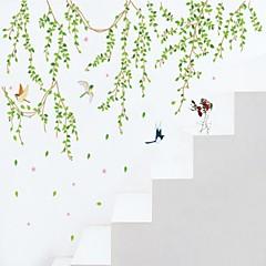 Wandaufkleber Wandtattoo, verlässt Stil grünen PVC Wandaufkleber