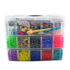 15000pcs силиконовые ленты, 240S-клипы, 2 ткацких, 1 metail 2 пластиковый крючок ленты высокого качества коробки 3 слоя