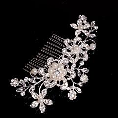 Kobiety / Flower Girl Stop Winieta-Ślub / Piękny / Przypadkowy Hair Combs Srebrny
