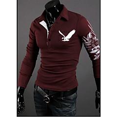 Informeel Shirt Kraag - MEN - T-shirts ( Katoenmengeling )met Lange Mouw