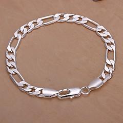 4M European Fashion 925 Silver Chain Bracelets(1Pc) Jewelry Christmas Gifts