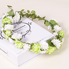 Natural Paper/Plastic Wreaths With Wedding/Party Headpiece