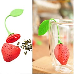 ny silicium jordbær design te blad si
