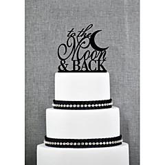 Tortenfiguren & Dekoration Nicht-personalisierte Acryl Jubliläum / Brautparty / Hochzeit Schwarz Garten Thema 1 OPP