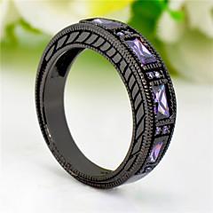 High Quality Fashion Women's Black Gold 10 KT Purple Zircon Ring