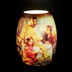 jesus missionær diagram bordlampe