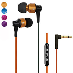 Genuine Awei 55Vi Headphone 3.5mm In Ear Canal Super Bass with Microphone Remote for iPhone6 6 Plus S6(Assorted Color)