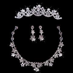Smykker Set Dame Jubilæum / Bryllup / Forlovelse / Fødselsdag / Gave / Speciel Lejlighed Juvel Sæt Legering RhinstenHalskæder / Øreringe