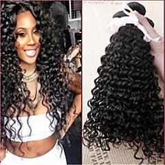 3kpl / paljon Brasilian neitsyt hiukset syvä curl aalto 100% hiuksista käsittelemätön karva
