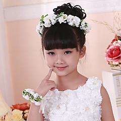 Menina das Flores Papél / Cestaria Capacete-Casamento / Ocasião Especial / Casual Flores 1 Peça
