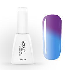 azuurblauwe uv gel losweken nagellak kleur veranderende met de temperatuur 37 # -48 # (12 ml, 48 kleuren)